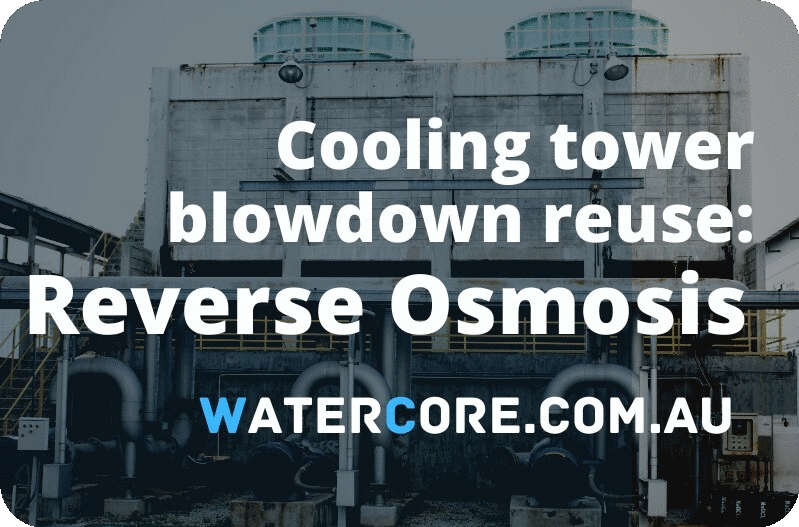 cooling tower blowdown reuse by means of RO