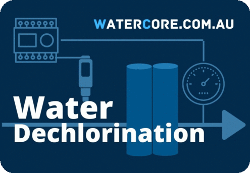 Dechlorination of water before reverse osmosis desalination