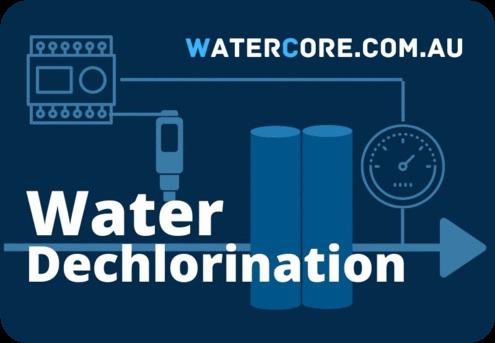 Dechlorination of water before reverse osmosis desalination
