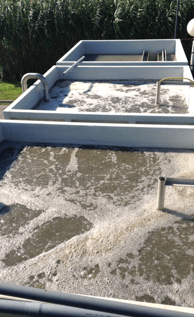 MBBR wastewater treatment plant