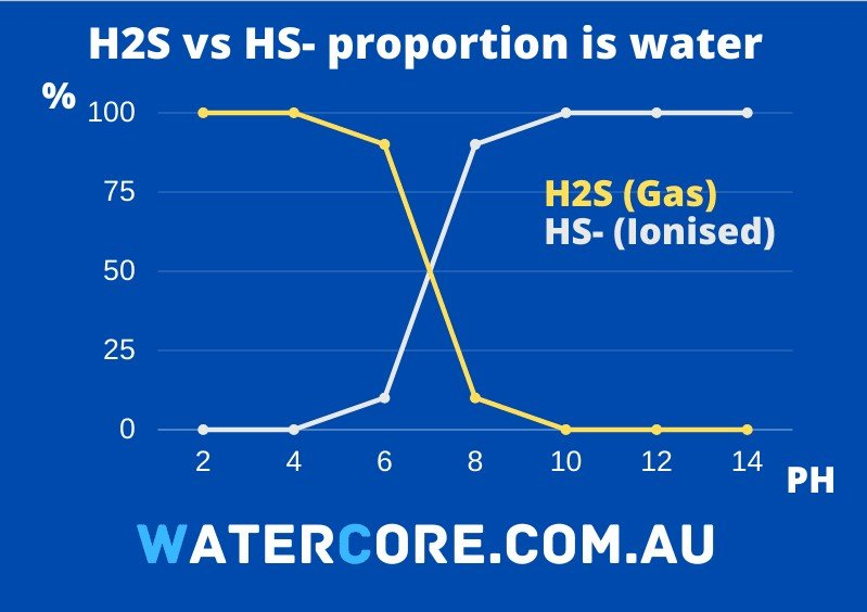 Portion of Hydrogen Sulfide gas in water