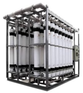 Ultrafiltration module for water purification