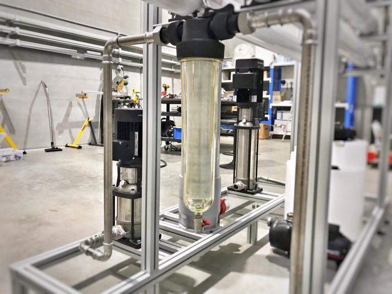 Water prefiltration in brackish RO unit